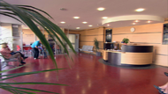 The high quality,  clean clinic reception at the french orthopedic surgery, Clinique Sainte Isabelle