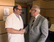 Hugh Philips of Operation France with the world renowned orthopaedic surgeon, Dr Renaux