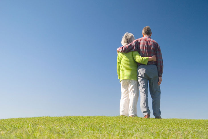 Senior Couple Standing on a Hill